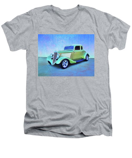 1934 Green Ford Men's V-Neck T-Shirt