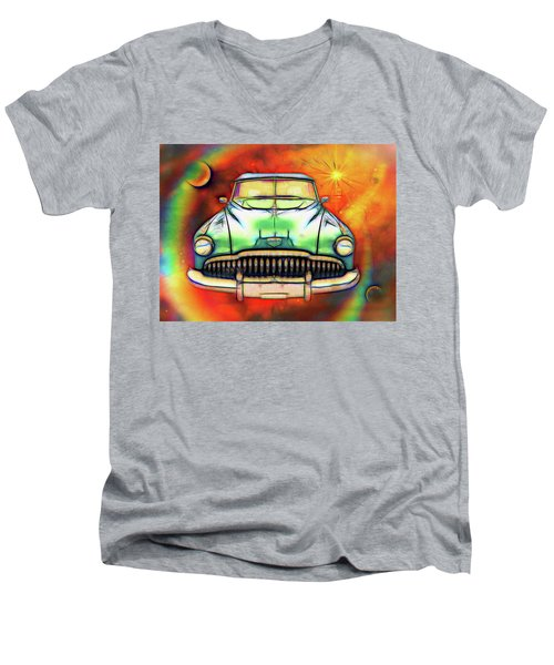 1949  Buick Headon Men's V-Neck T-Shirt