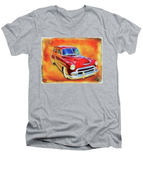 1951 Chevy Woody Men's V-Neck T-Shirt