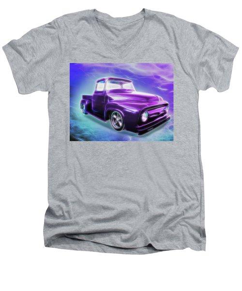 1956 Ford Truck Men's V-Neck T-Shirt