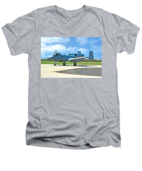 A-10 Warthog Men's V-Neck T-Shirt