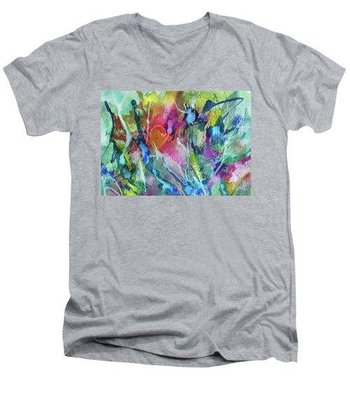 Abstract 224 Men's V-Neck T-Shirt