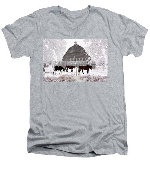 Home  Men's V-Neck T-Shirt
