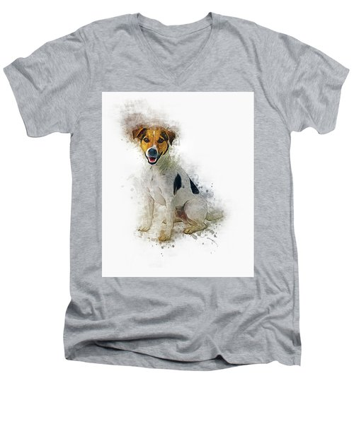Jack Russell Men's V-Neck T-Shirt