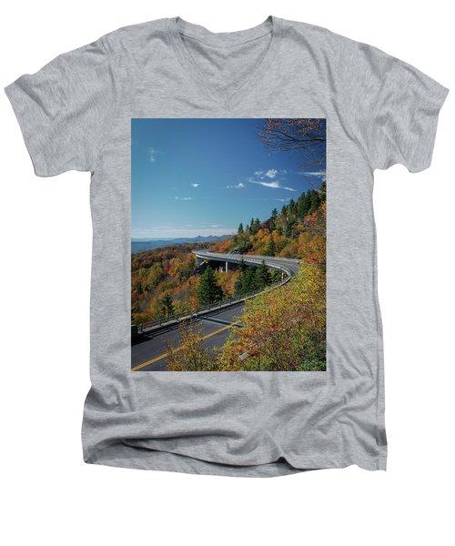 Linn Cove Viaduct - Blue Ridge Parkway Men's V-Neck T-Shirt