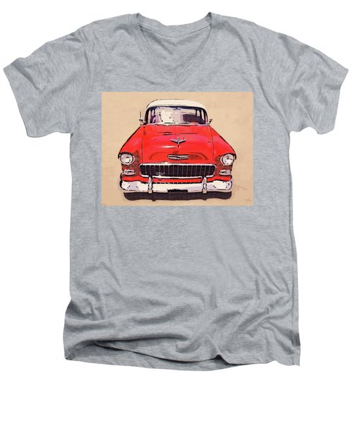 2 Tone 55 Men's V-Neck T-Shirt