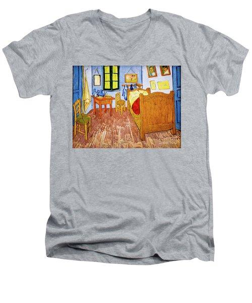 Van Gogh's Bedroom At Arles Men's V-Neck T-Shirt