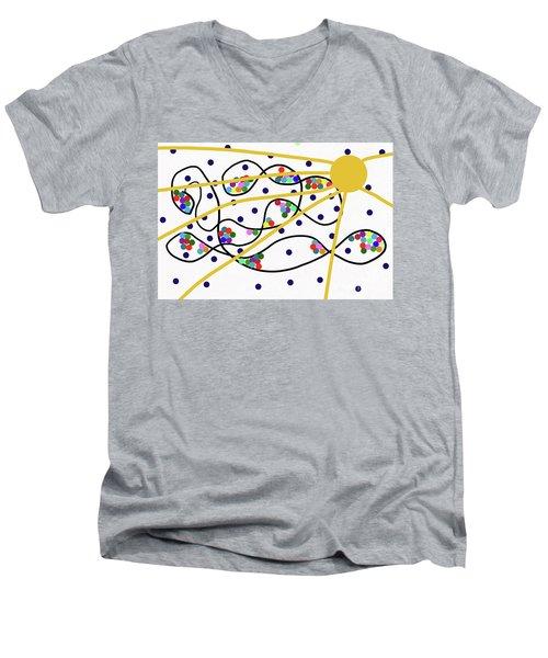 3-13-2010f Men's V-Neck T-Shirt