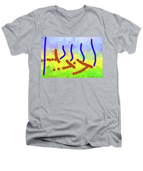 3-15-2009xabcdefghijklmno Men's V-Neck T-Shirt