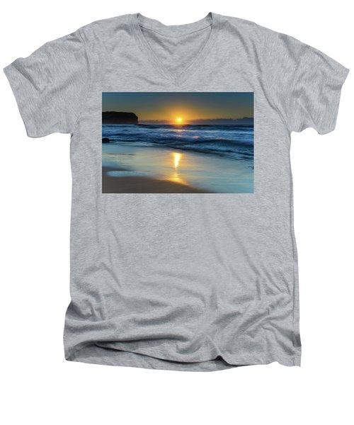 Sunrise Lights Up The Sea Men's V-Neck T-Shirt