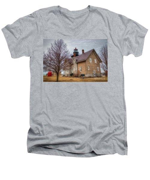 30 Mile Lighthouse  Men's V-Neck T-Shirt