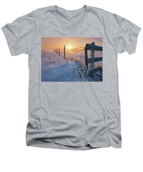 -30 Sunrise Men's V-Neck T-Shirt
