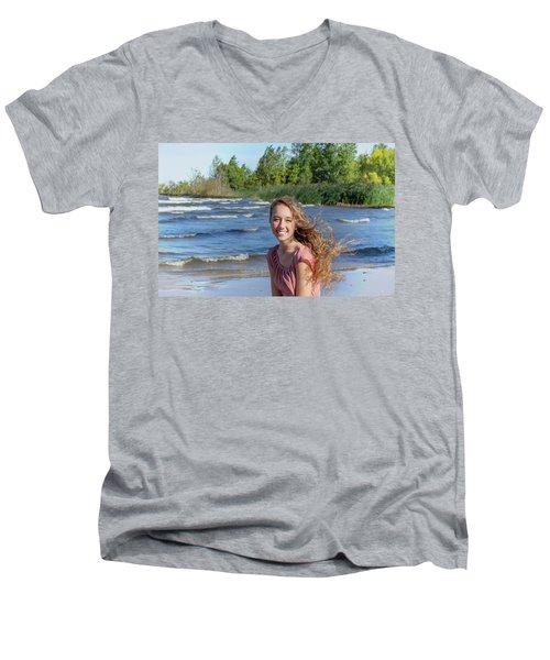 3AE Men's V-Neck T-Shirt