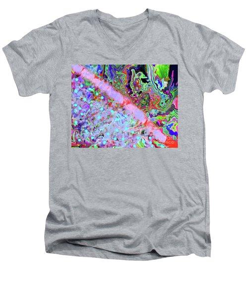 4-10-2010cabcdegfh Men's V-Neck T-Shirt