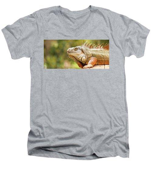 Green Iguana Men's V-Neck T-Shirt