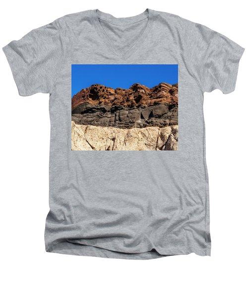 4 Textures 4 Colors Men's V-Neck T-Shirt