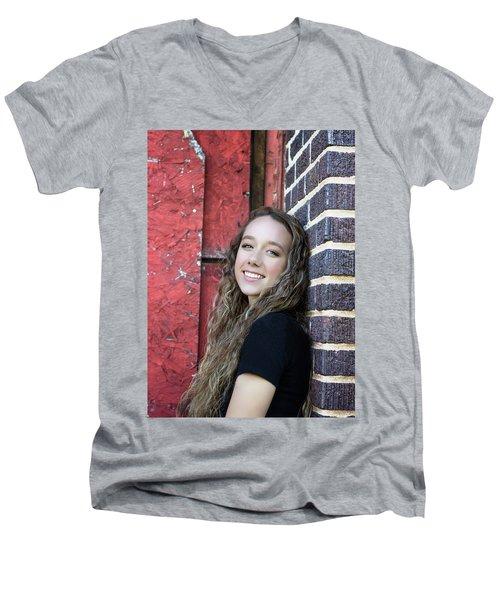 4aee Men's V-Neck T-Shirt