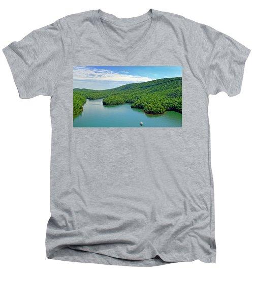 2017 Poker Run, Smith Mountain Lake, Virginia Men's V-Neck T-Shirt