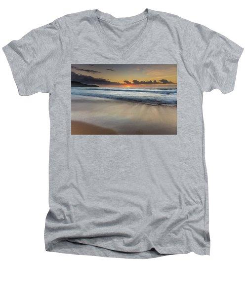 Sunrise Beach Seascape Men's V-Neck T-Shirt