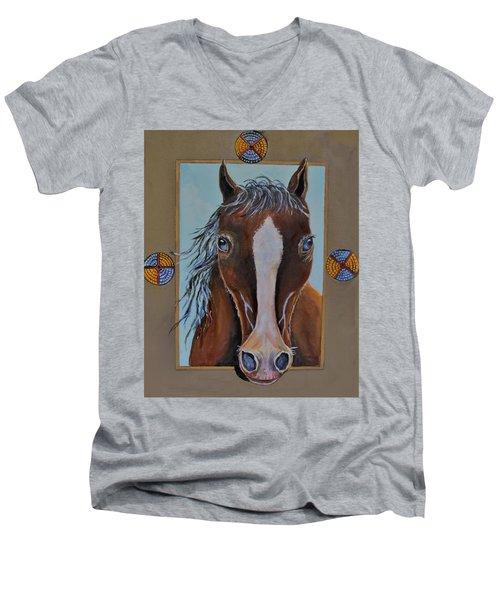 A Blue Eyed Horse Men's V-Neck T-Shirt