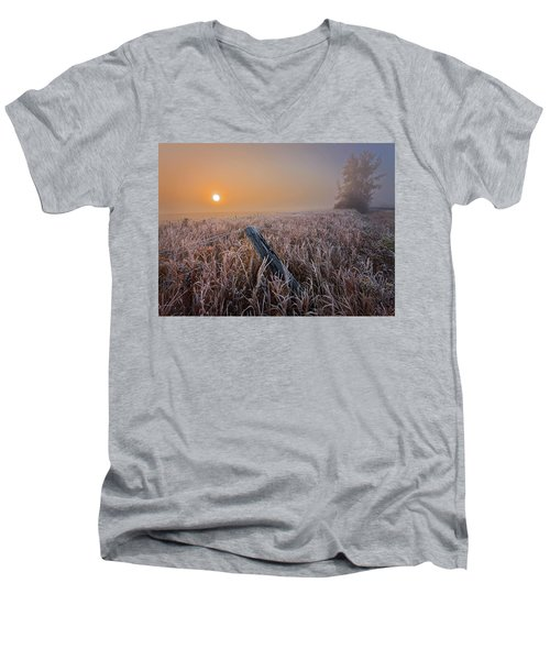 A Crisp October Morning Men's V-Neck T-Shirt