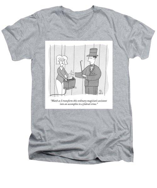 A Federal Crime Men's V-Neck T-Shirt