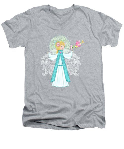 A Is For Angel Men's V-Neck T-Shirt