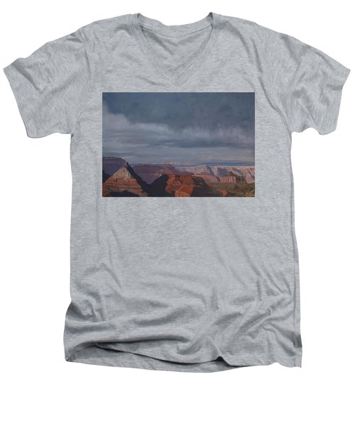 A Little Rain Over The Canyon Men's V-Neck T-Shirt