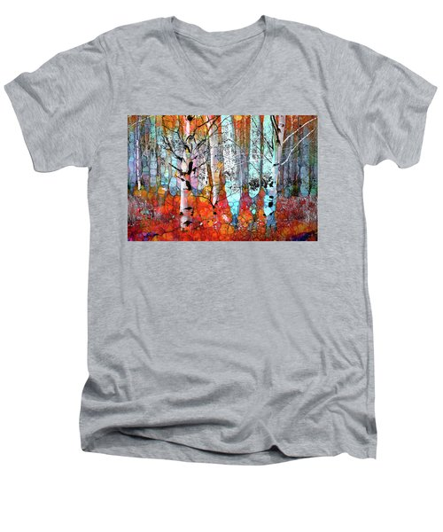 A Party In The Forest Men's V-Neck T-Shirt
