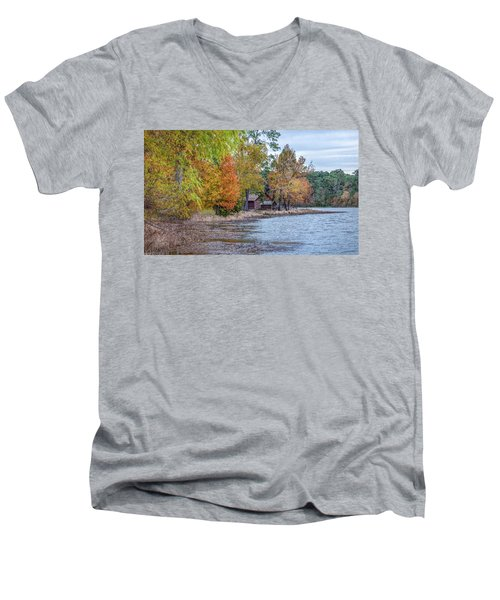 A Peaceful Place On An Autumn Day Men's V-Neck T-Shirt