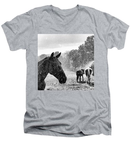 A Rainy Summer Day Men's V-Neck T-Shirt