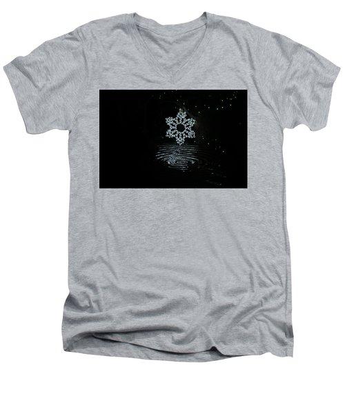 A Ripple Of Christmas Cheer Men's V-Neck T-Shirt