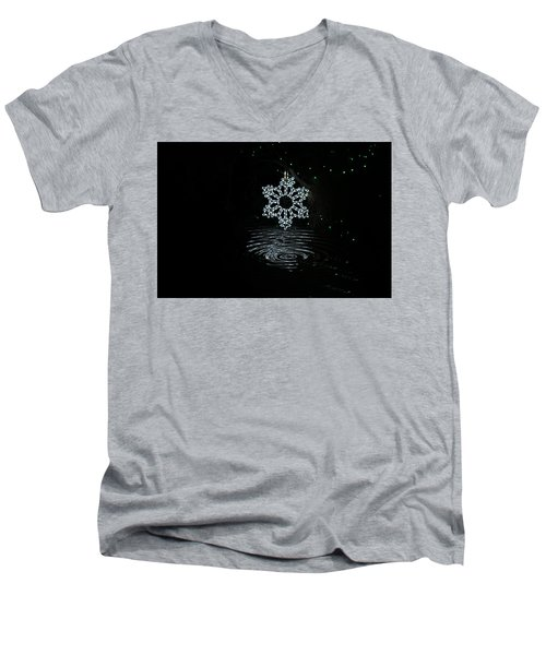 A Ripple Of Christmas Cheer Men's V-Neck T-Shirt