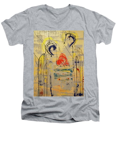 A Thousand Miles Of Sand And Sea Men's V-Neck T-Shirt