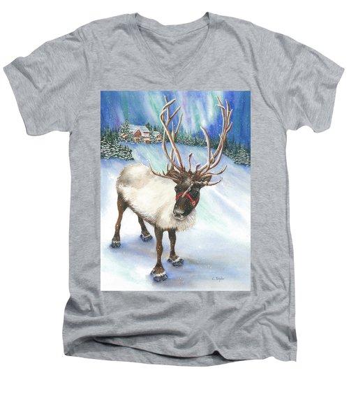 A Winter's Walk Men's V-Neck T-Shirt