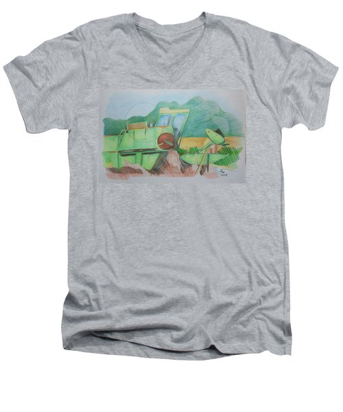 Abandoned Combine Men's V-Neck T-Shirt