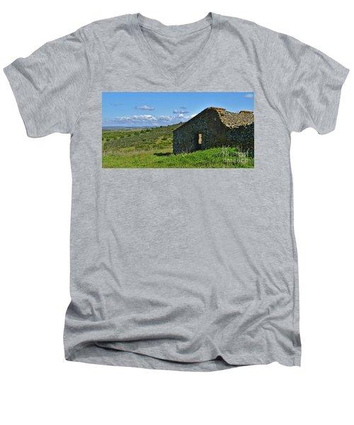 Abandoned Cottage In Alentejo Men's V-Neck T-Shirt