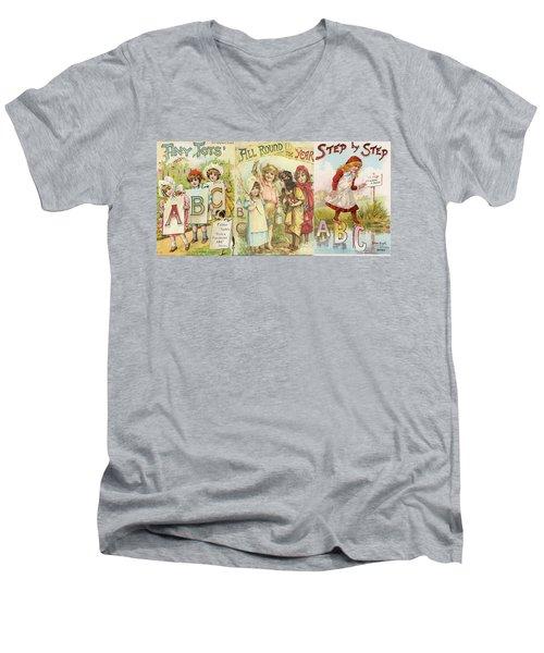 Abc Book Cover 7 For Mugs Men's V-Neck T-Shirt