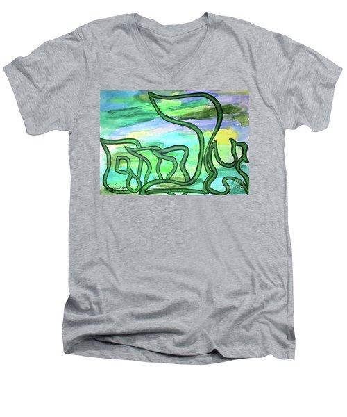 Abraham Nm2-4 Men's V-Neck T-Shirt