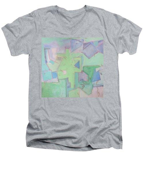 Abstract 3 Men's V-Neck T-Shirt