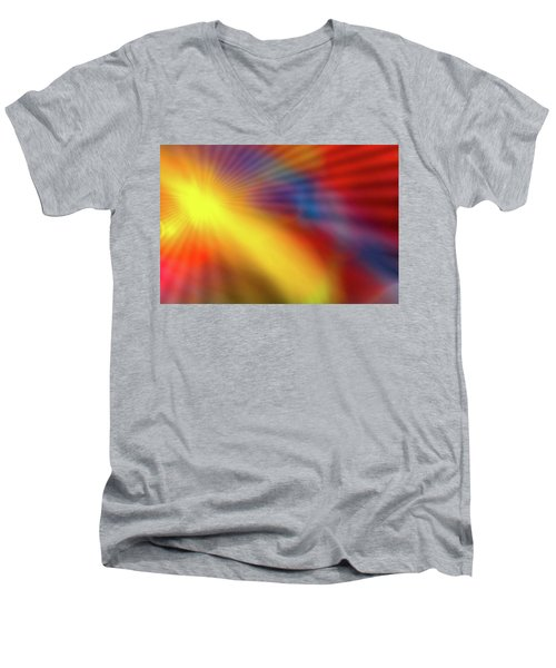Abstract 46 Men's V-Neck T-Shirt