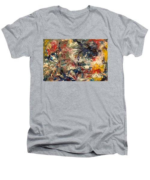 Abstract Puzzle Men's V-Neck T-Shirt