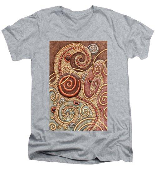 Abstract Spiral 1 Men's V-Neck T-Shirt