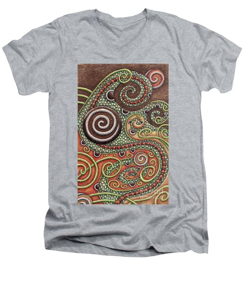 Abstract Spiral 10 Men's V-Neck T-Shirt