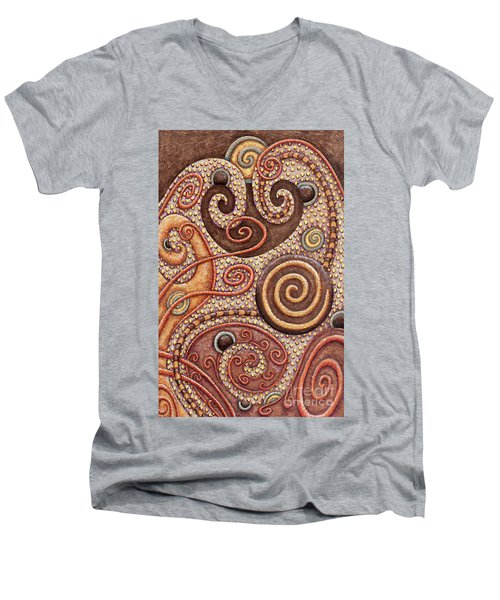Abstract Spiral 2 Men's V-Neck T-Shirt
