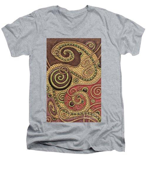 Abstract Spiral 3 Men's V-Neck T-Shirt