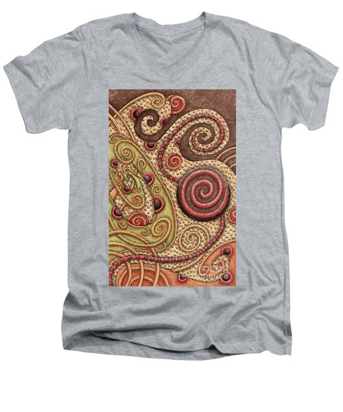 Abstract Spiral 4 Men's V-Neck T-Shirt