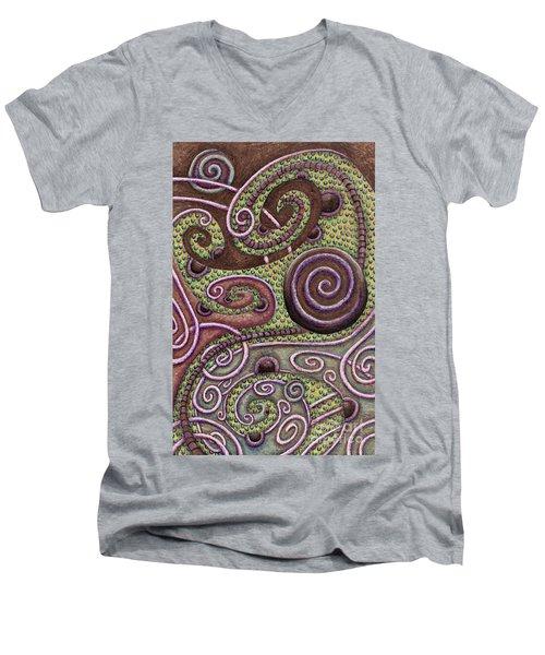 Abstract Spiral 9 Men's V-Neck T-Shirt