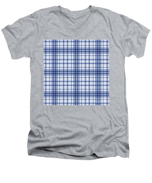 Abstract Squares And Lines Background - Dde613 Men's V-Neck T-Shirt