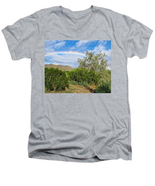 After An Arizona Winter Rain Men's V-Neck T-Shirt